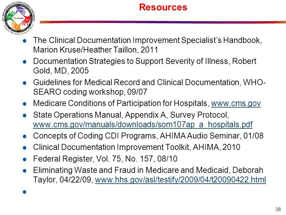 Title: Documentation Matters: Why is Clinical Documentation ...