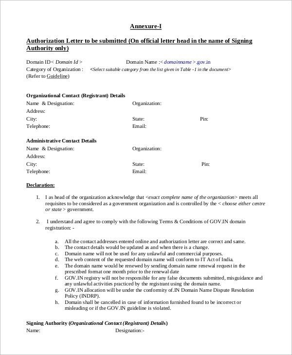 Sample Letter of Authorization - 9+ Examples in PDF, Word