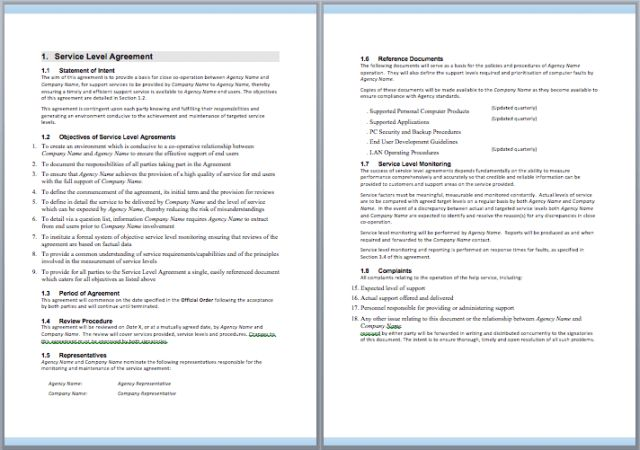 It Maintenance Contract Template. it contract template 5 free word ...
