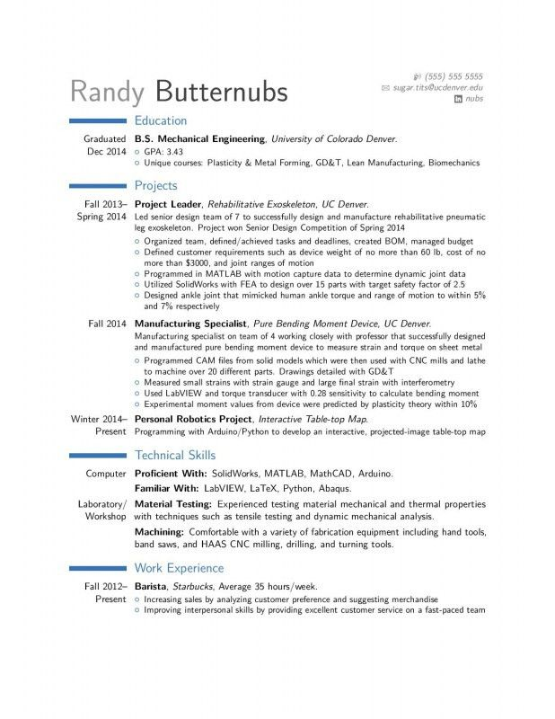 Entry Level Mechanical Engineering Resume | Samples Of Resumes
