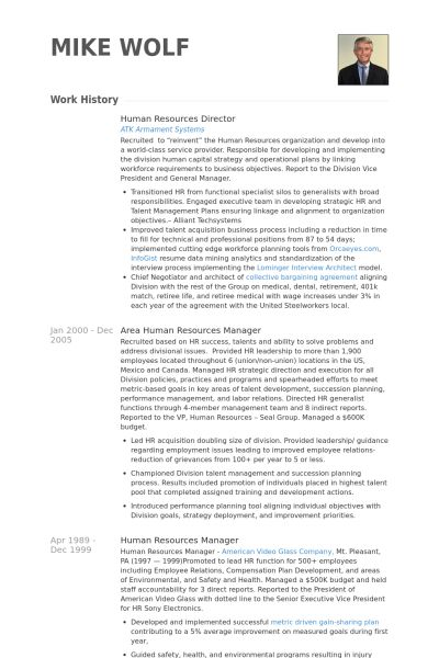 Human Resources Director Resume samples - VisualCV resume samples ...