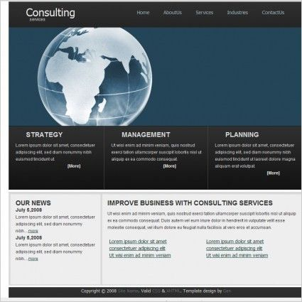Consulting Services Template Free website templates in css, html ...