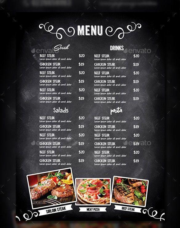 Cafe Menu Template Free. menu sample sample menu kids after hours ...