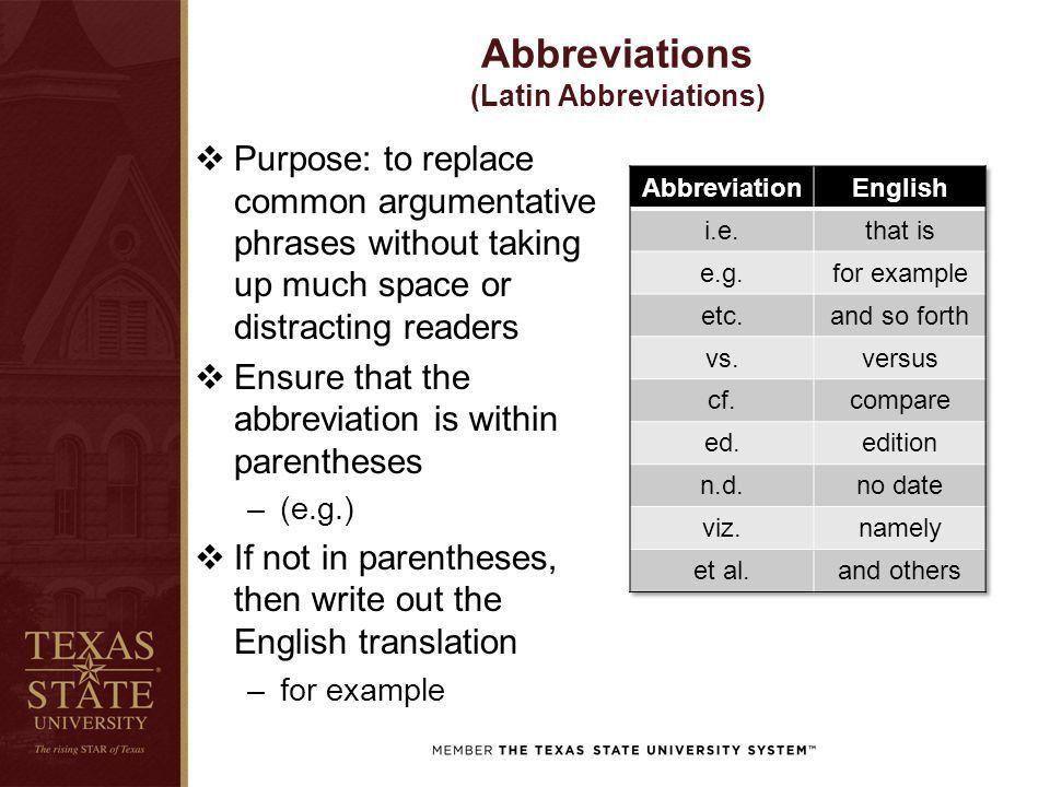 ABBREVIATIONS & STATISTICS APA 6 th Edition Trae Stewart, Ph.D ...