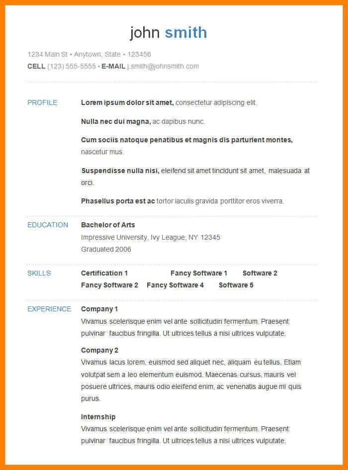 11+ basic resume template | resume pictures