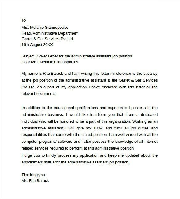 Office Assistant Cover Letter Example Sample In Letters For ...
