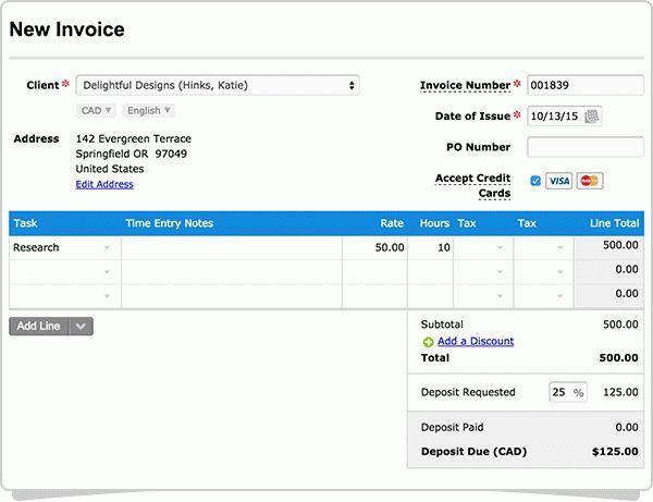 50 Deposit Invoice Sample | free printable invoice