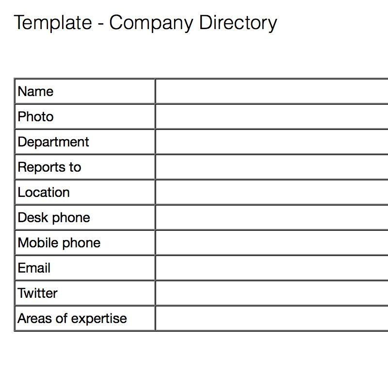 Note templates for company-wide information – Evernote Help & Learning
