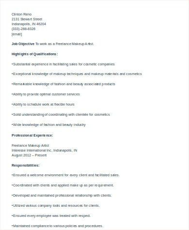 Cosmetologist Resume Sample - 6+ Examples in Word, PDF