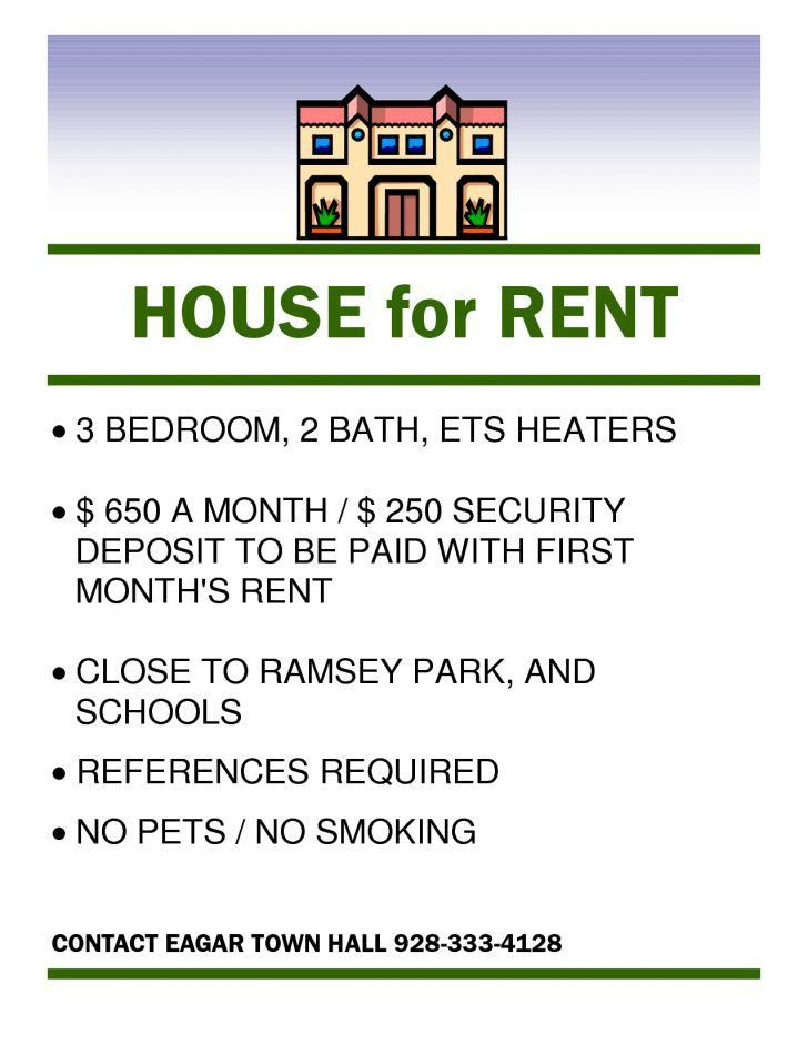 House For Rent Template | Samples.csat.co