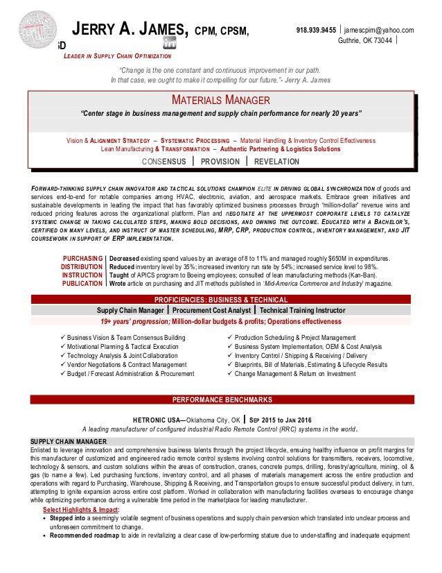 resume samples for procurement specialist create professional ...