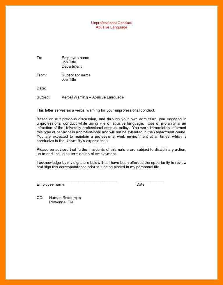 12+ letter of warning to employee | noc certificate
