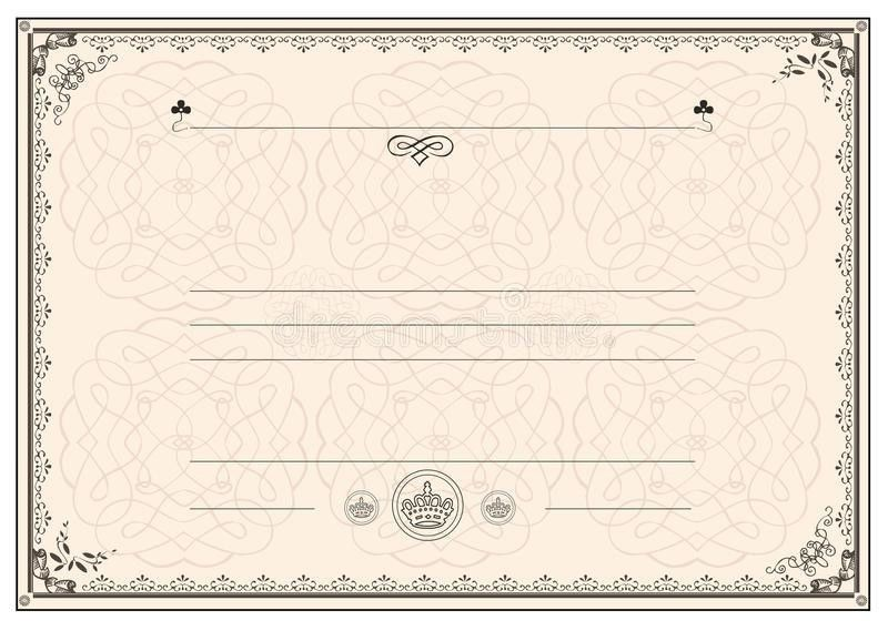 Certificate Frame Border Royalty Free Stock Photos - Image: 23498958