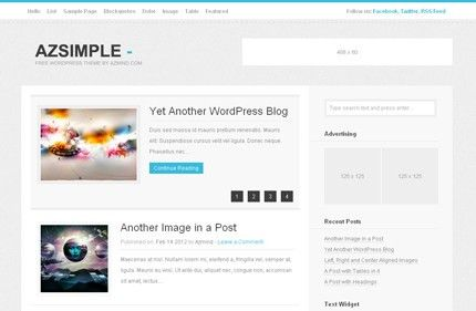 Free Wordpress Theme - AzSimple | AZMIND