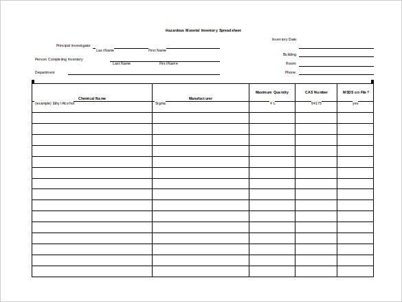 10+ Blank Spreadsheet Templates – Free Sample, Example, Format ...