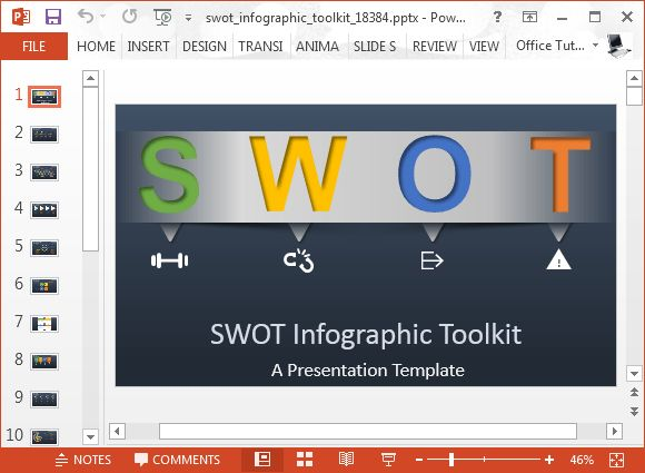 Animated SWOT Analysis Template For PowerPoint