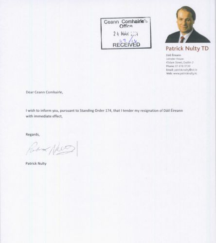 Here is Patrick Nulty's very short resignation letter · TheJournal.ie