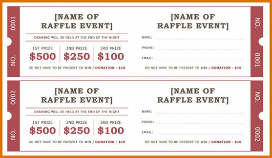 8+ free raffle ticket template for wordReference Letters Words ...