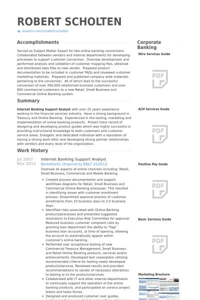 Bank Resume samples - VisualCV resume samples database