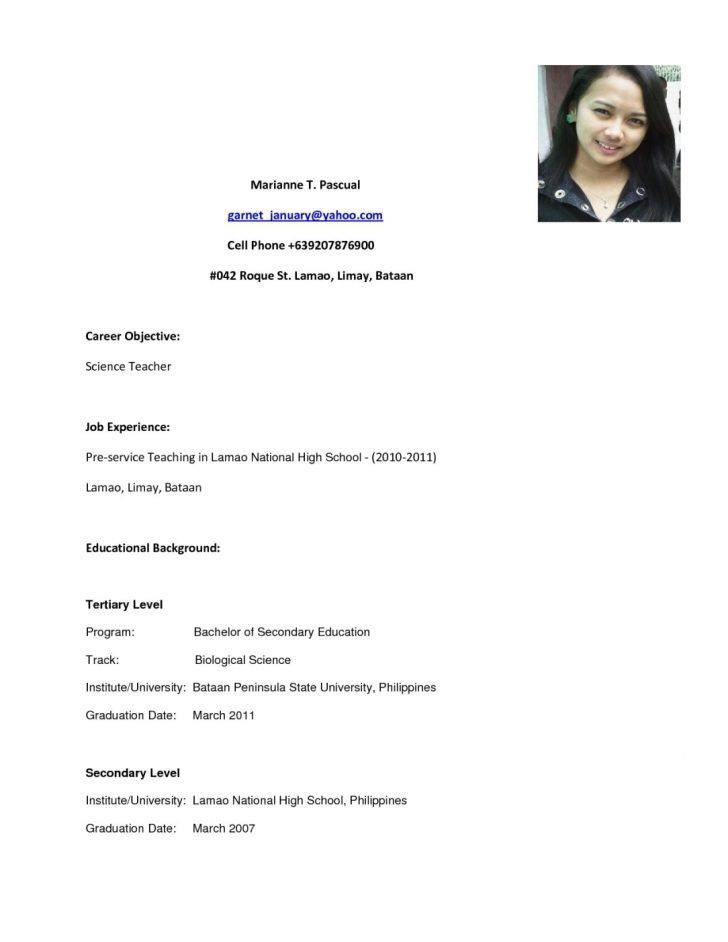 Download Resume Samples High School Graduate ...