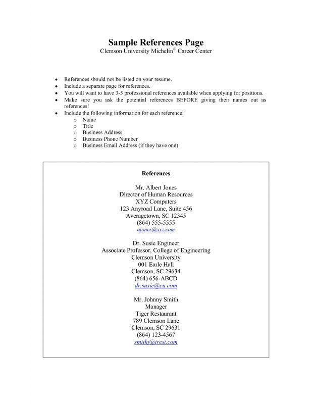 sample references for resume writing job referencecharacter ...