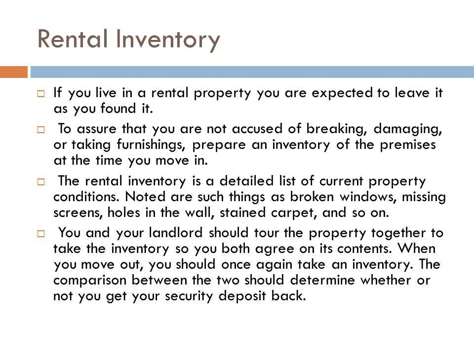 Chapter 21 Renting a Residence. - ppt download