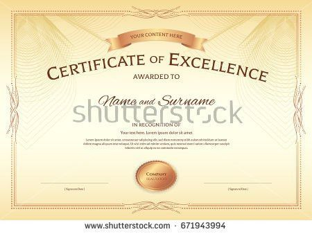 Certificate Of Excellence Template. Using A Template How To Make ...