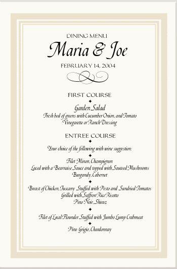 wedding menu template | Sponsorship letter