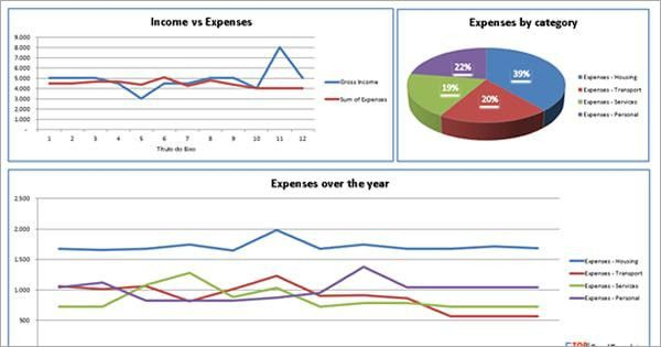 Income Statement template with profit and loss report example ...