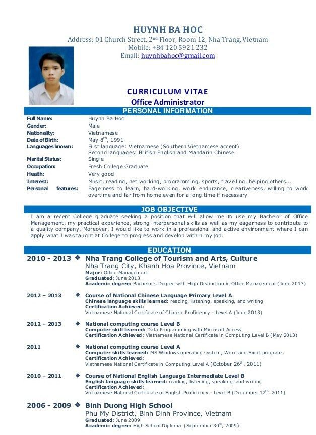 Simple Resume Sample For Job | resume | Pinterest | Sample resume ...