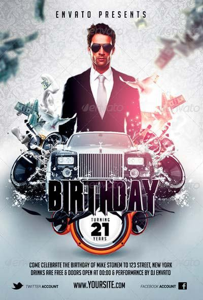 Best Birthday Flyer Templates No.1 - Download PSD Flyer