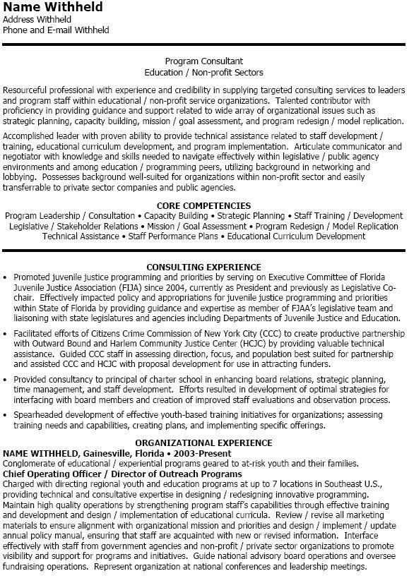 training consultant resume free training consultant resume