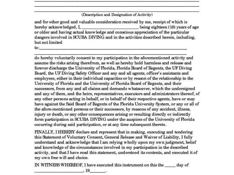 General Release Form Template | TemplateZet