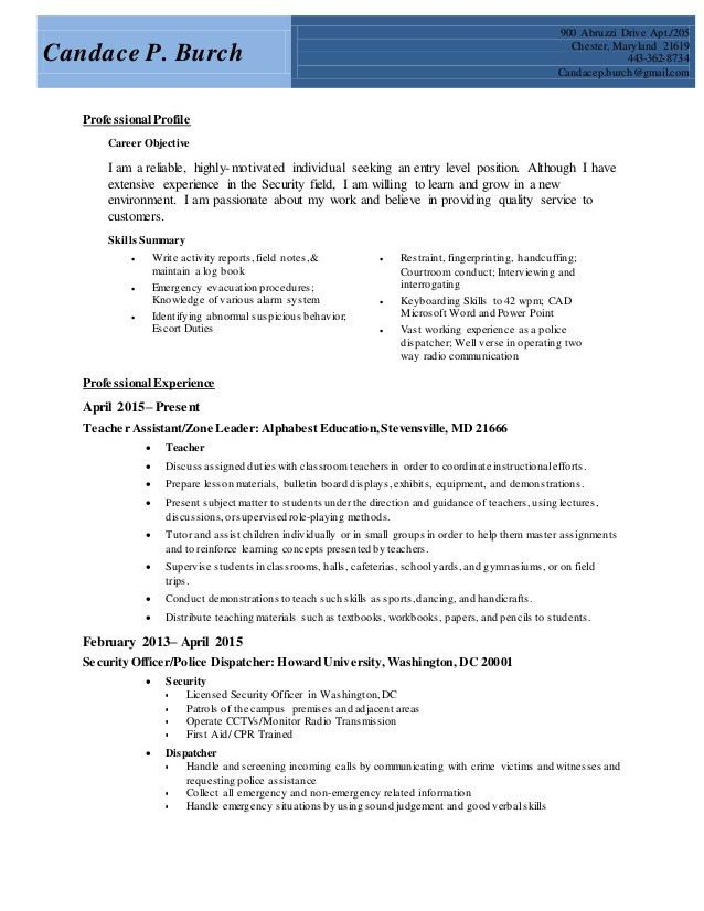 resume for dispatcher dispatcher resume driver templates job