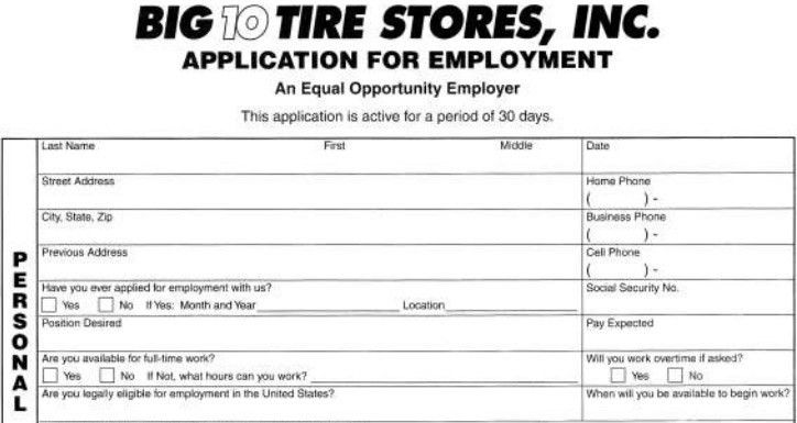 Job Application Forms. Sample Employment Application Form Download ...