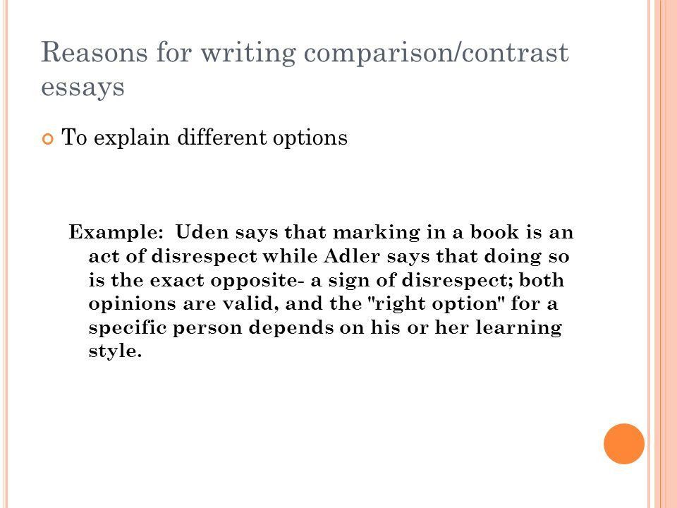 Paper #2: The Comparison/Contrast Essay - ppt video online download
