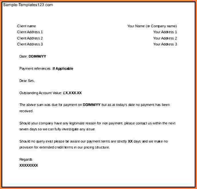 7+ unpaid invoice letter | Invoice Template