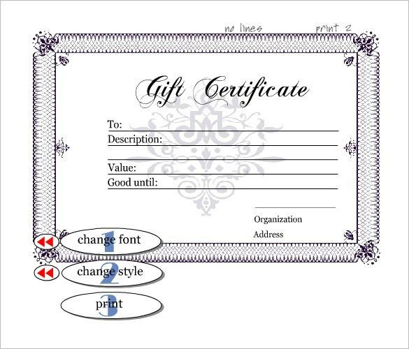 Gift Certificate Templates – Word Excel PDF Formats – Get Calendar ...