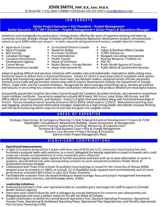 Click Here to Download this Sr. Project Executive Resume Template ...