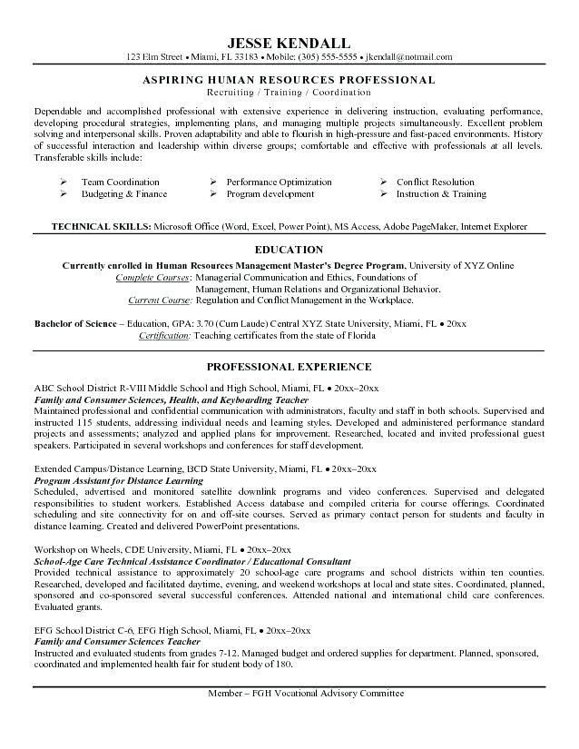 resume objective for graduate school resume objectives examples