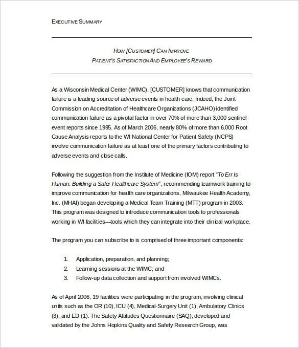 Executive summary template word executive summary office 31 executive summary templates free sample example format pronofoot35fo Image collections