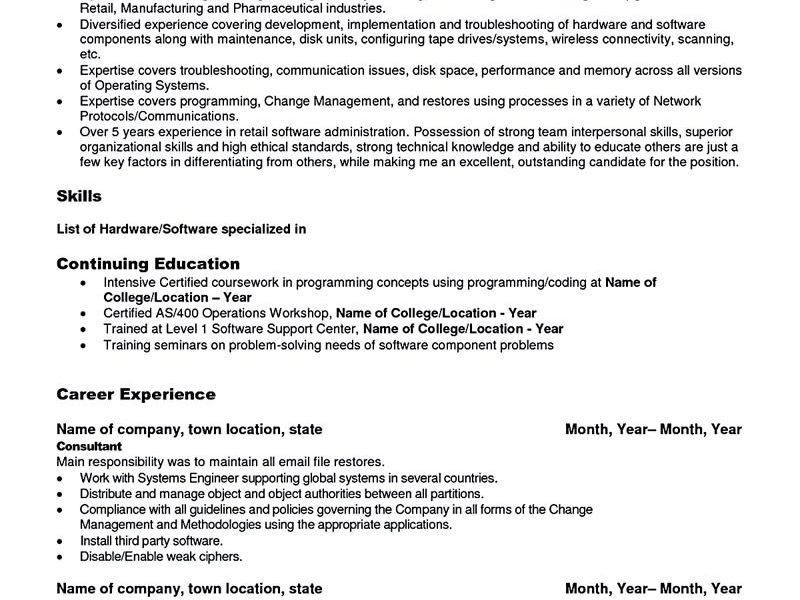 Linux System Administrator Resume | Samples.csat.co