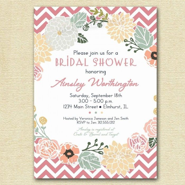 Free Printable Wedding Shower Invites : Free Printable Wedding ...