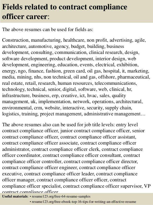 Compliance Manager Resume Samples - Duevia.com