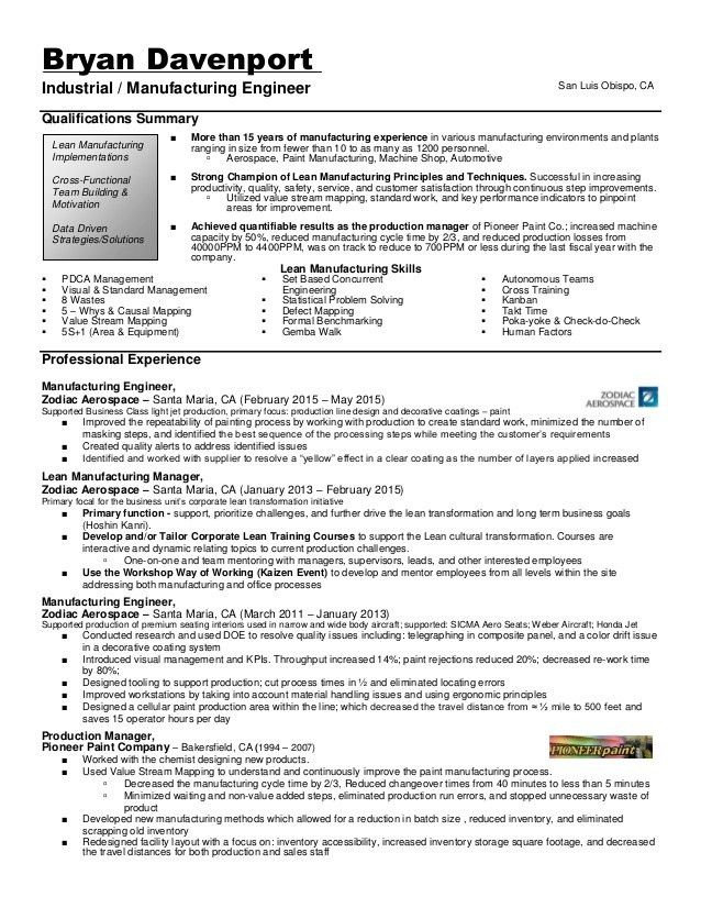 Industrial_Manufacturing Engineer Resume