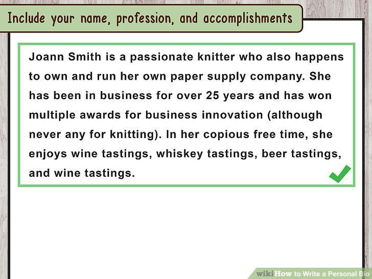 How to Write a Personal Bio (with Samples) - wikiHow