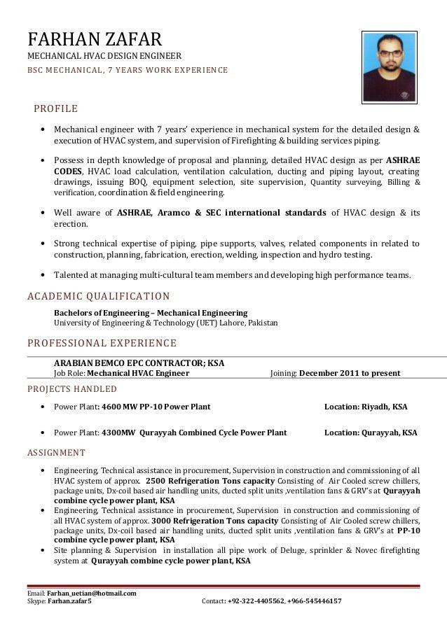 Hvac Design Engineer Sample Resume | haadyaooverbayresort.com