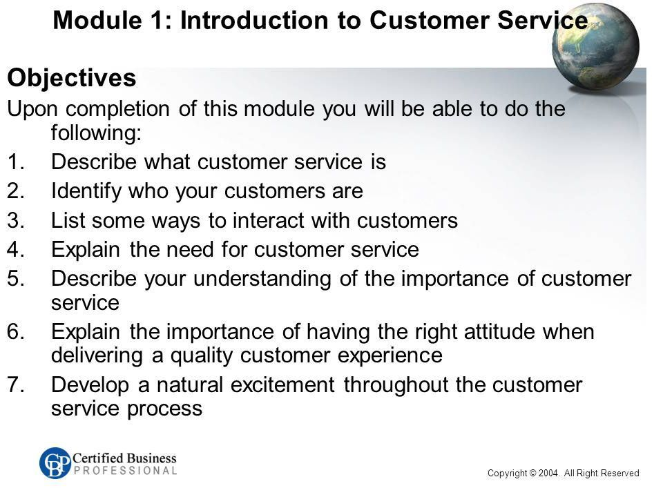 CBP™ Customer Service Series EXAM C Introduction Name Work ...