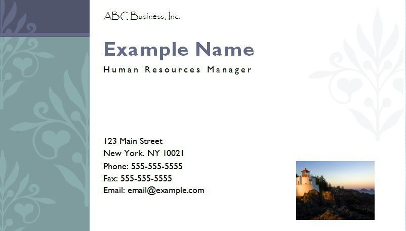 Design Your Own Business Cards with MS Publisher - Onsite Software ...