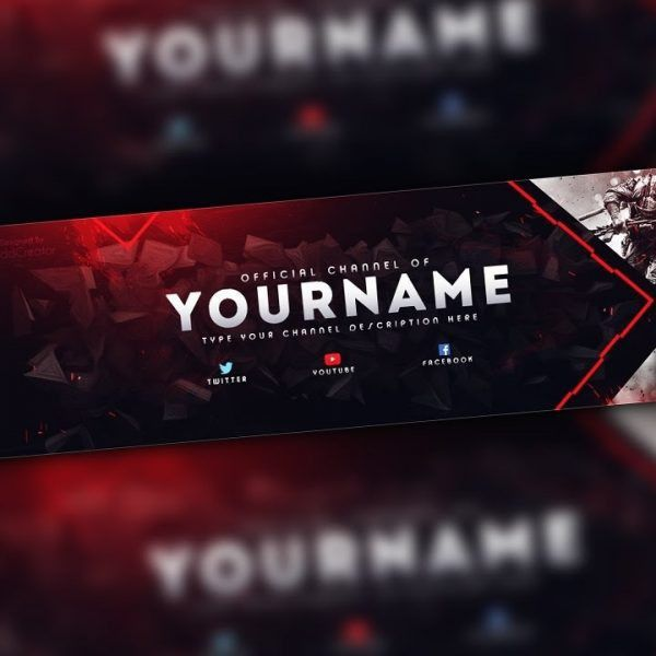 Photoshop – Gaming Banner Template – Youtube in Youtube Gaming ...